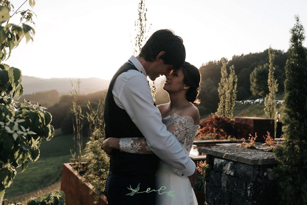 boda atardecer